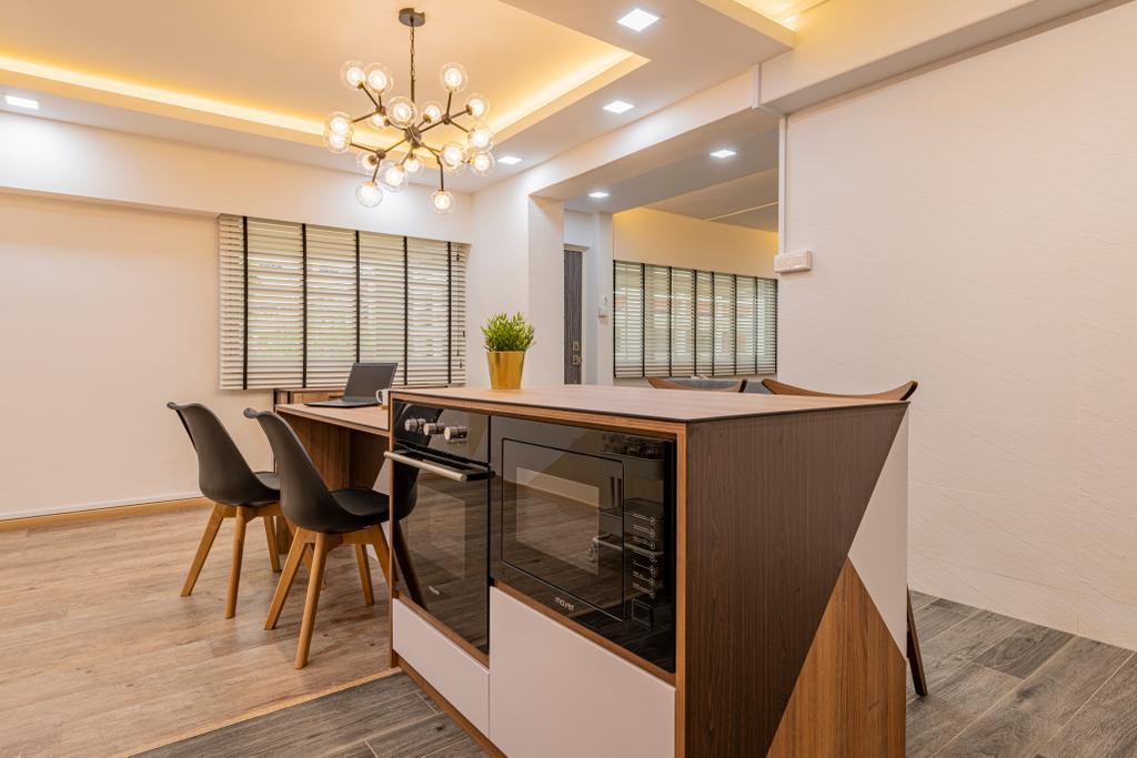 Modern, HDB, Dining Room, Woodlands Avenue 1, Interior Designer, Design Identity