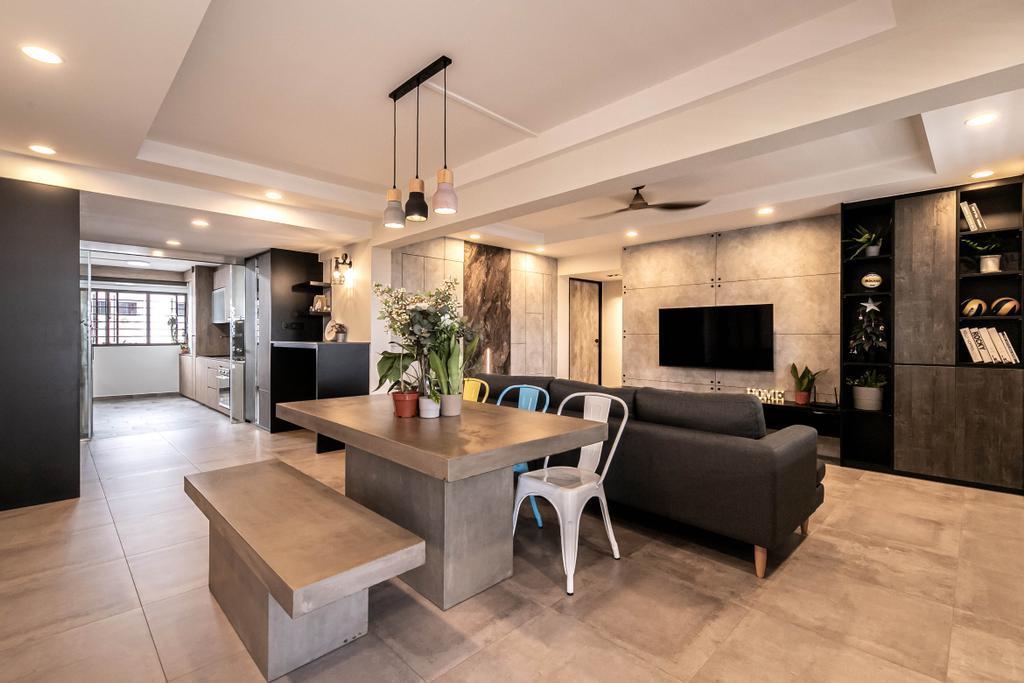 Contemporary, HDB, Living Room, Ang Mo Kio, Interior Designer, Space Atelier
