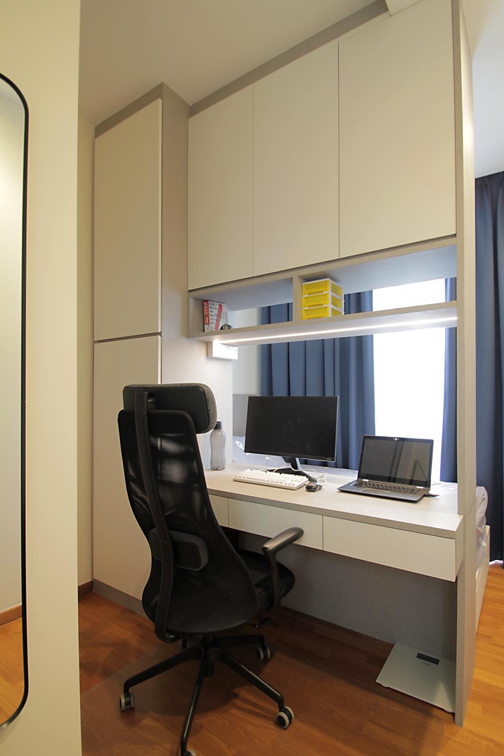 Modern, Condo, Study, Geylang Lor 35, Interior Designer, VVID Elements, Scandinavian
