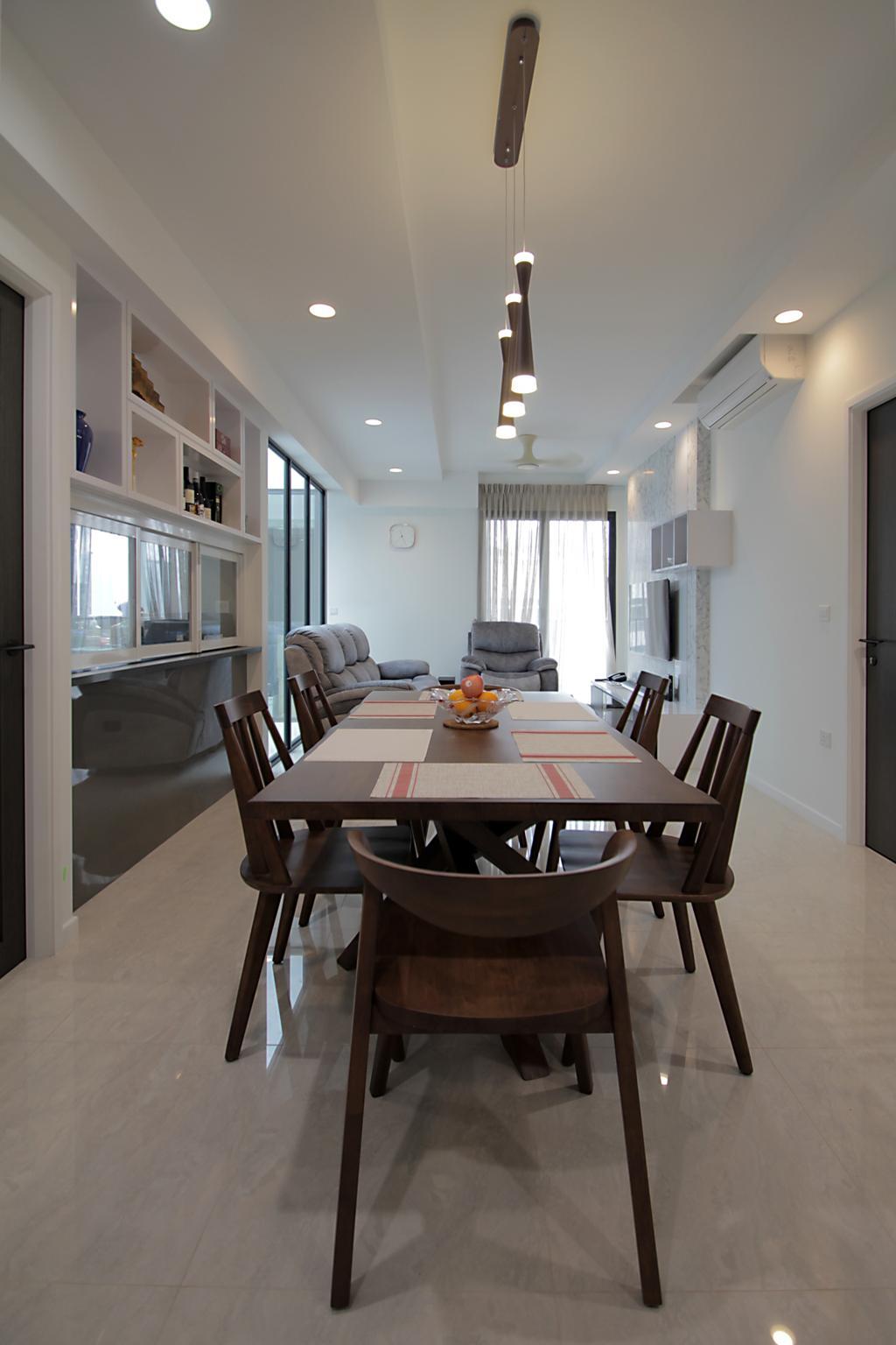 Modern, Condo, Dining Room, Geylang Lor 35, Interior Designer, VVID Elements, Scandinavian