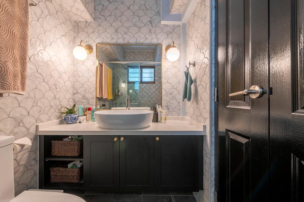 Modern, HDB, Bathroom, Woodlands Crescent, Interior Designer, Design Identity, Contemporary