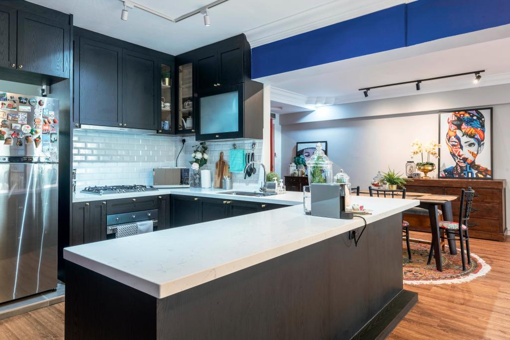 Modern, HDB, Kitchen, Woodlands Crescent, Interior Designer, Design Identity, Contemporary