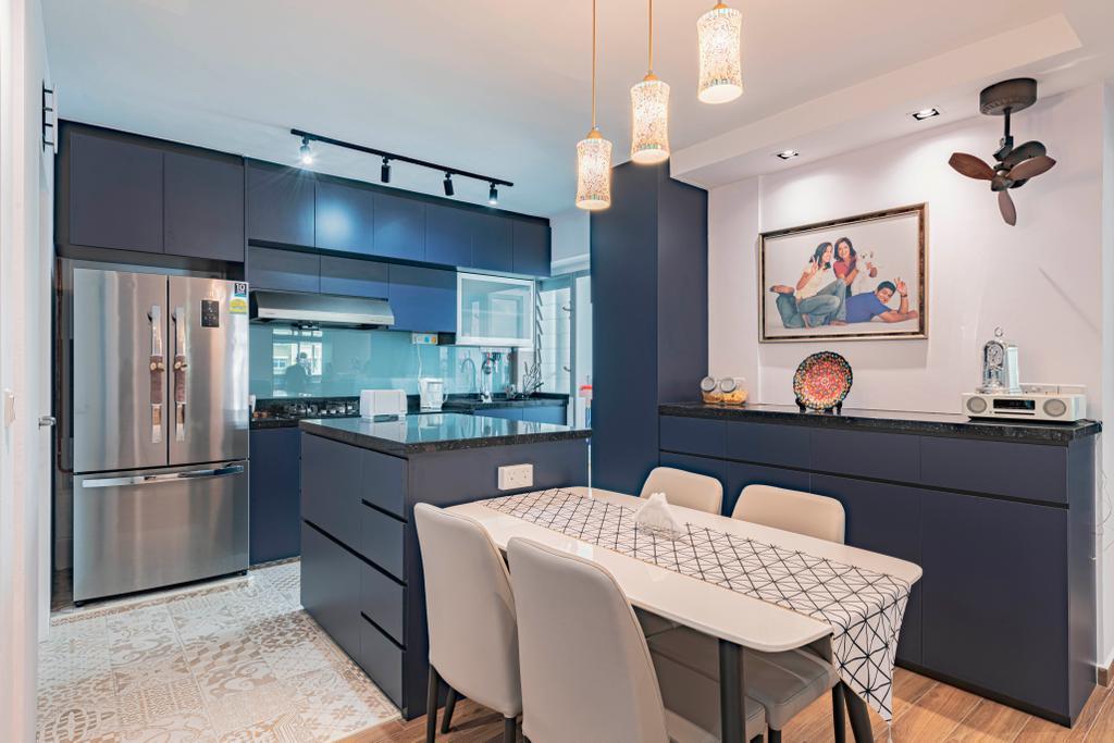 Contemporary, HDB, Dining Room, Yishun Street 51, Interior Designer, Design Identity