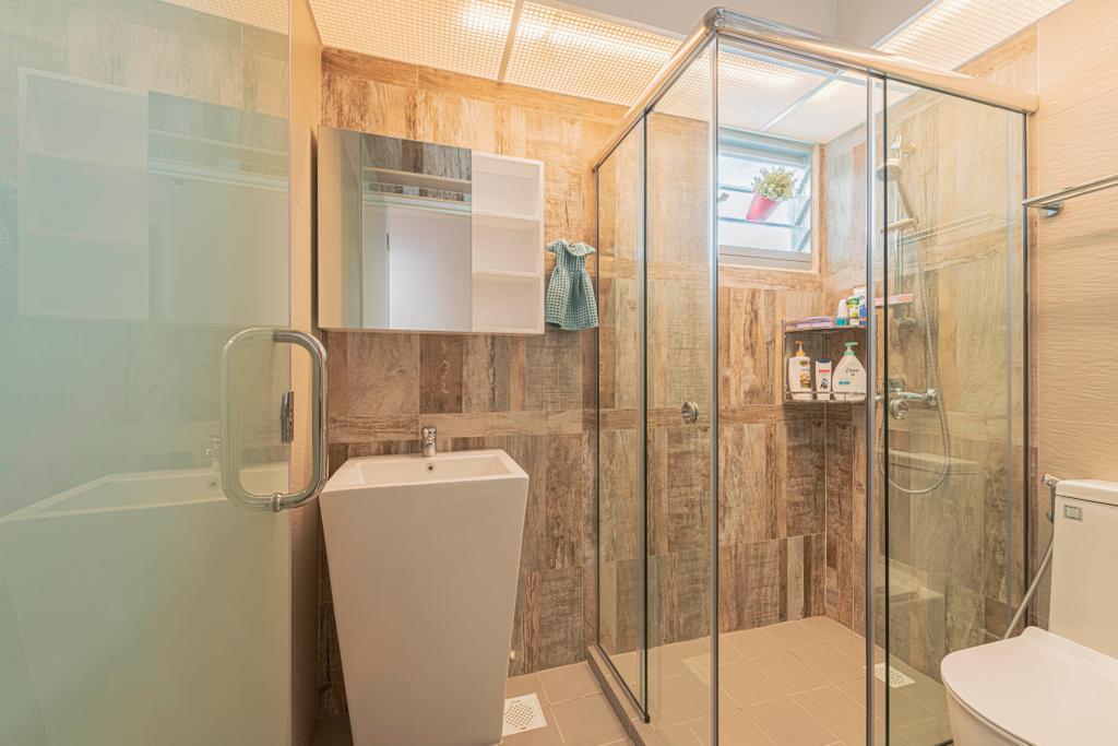 Contemporary, HDB, Bathroom, Yishun Street 51, Interior Designer, Design Identity