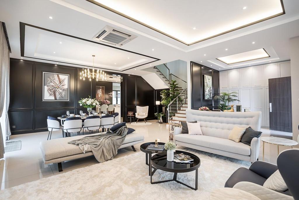 Modern, Landed, Living Room, Daintree Residence, JB, Interior Designer, Monogram Design Studio