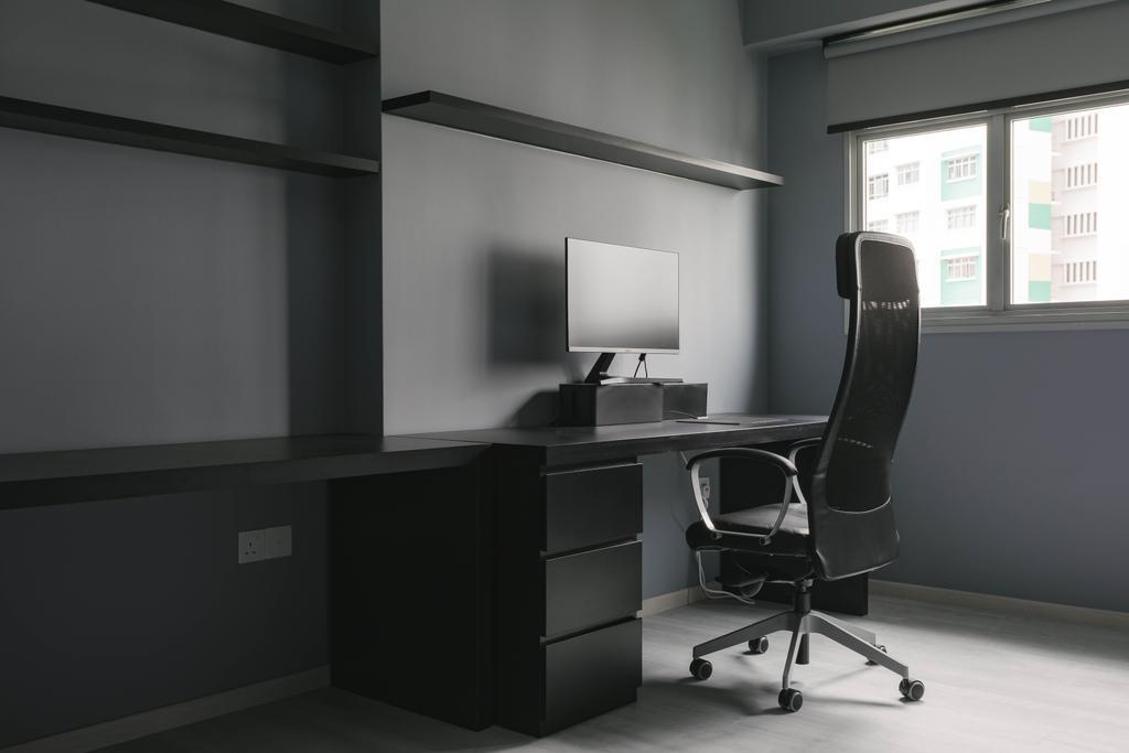 Contemporary, HDB, Study, Senja Road, Interior Designer, EA Interior Design