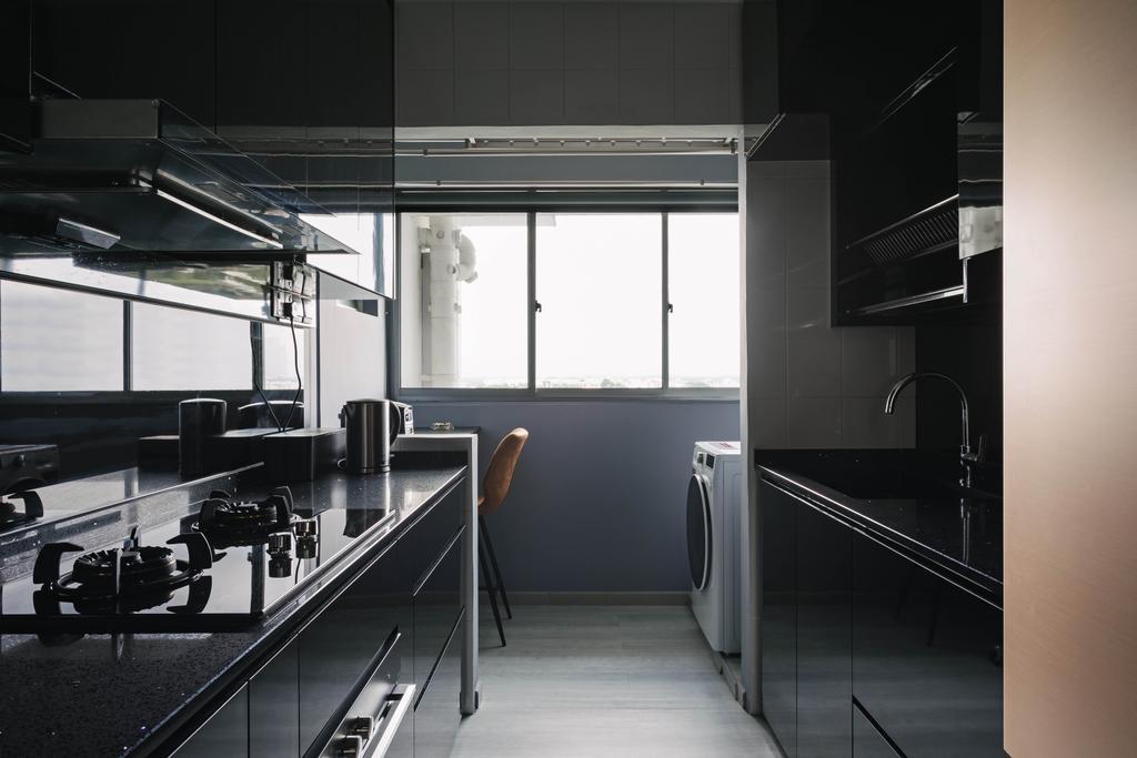 Contemporary, HDB, Kitchen, Senja Road, Interior Designer, EA Interior Design