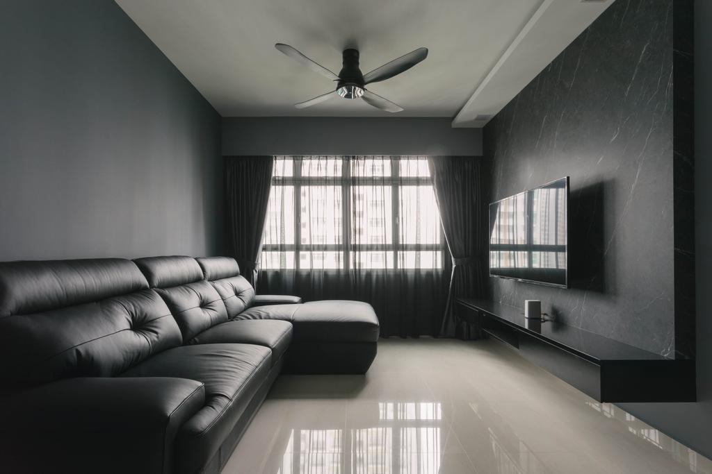 Contemporary, HDB, Living Room, Senja Road, Interior Designer, EA Interior Design