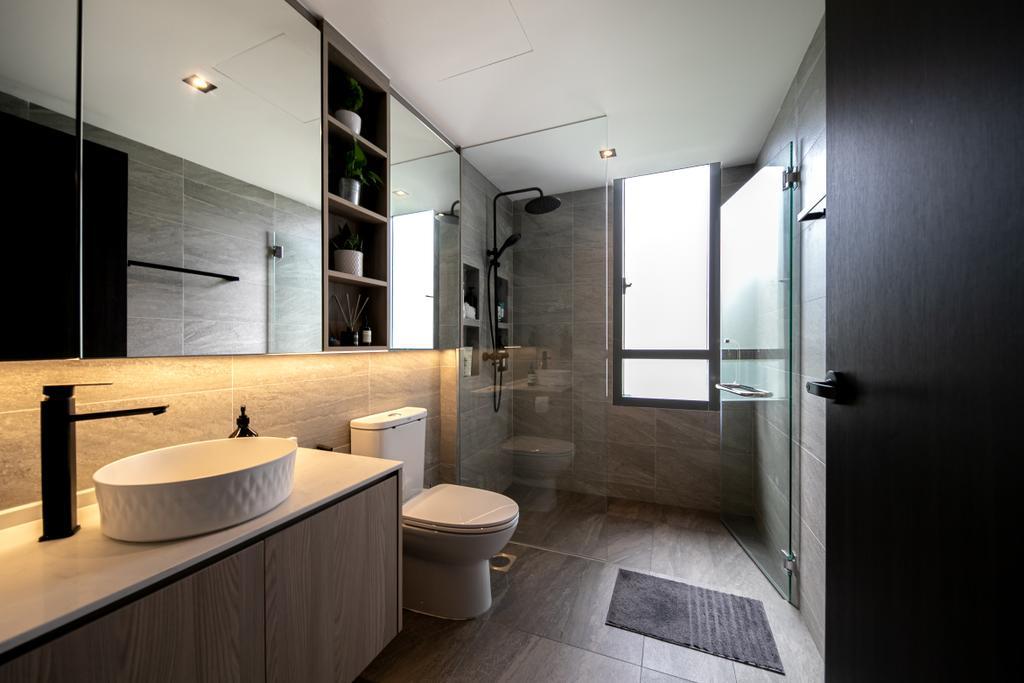 Modern, Condo, Bathroom, The Seawind, Interior Designer, Space Atelier, Contemporary