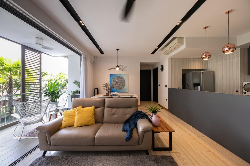 Modern, Condo, Living Room, The Seawind, Interior Designer, Space Atelier, Contemporary