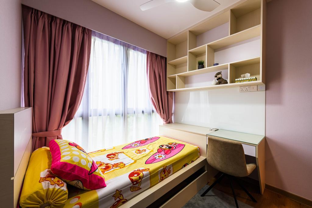 Modern, Condo, Bedroom, Hundred Palms Residences, Interior Designer, Orange Interior