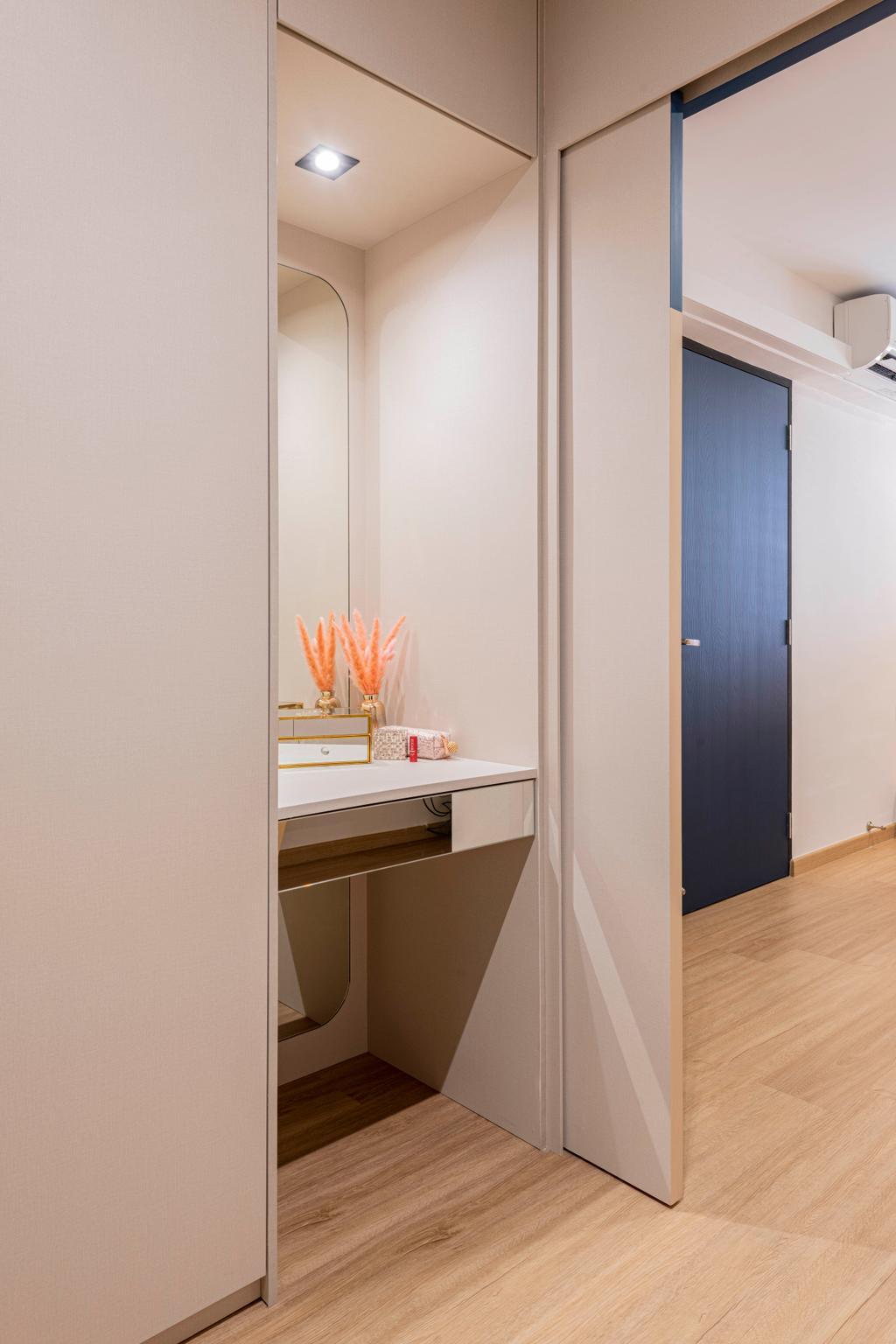 Contemporary, HDB, Bedroom, Lorong Liew Lian, Interior Designer, Urban Home Design 二本設計家