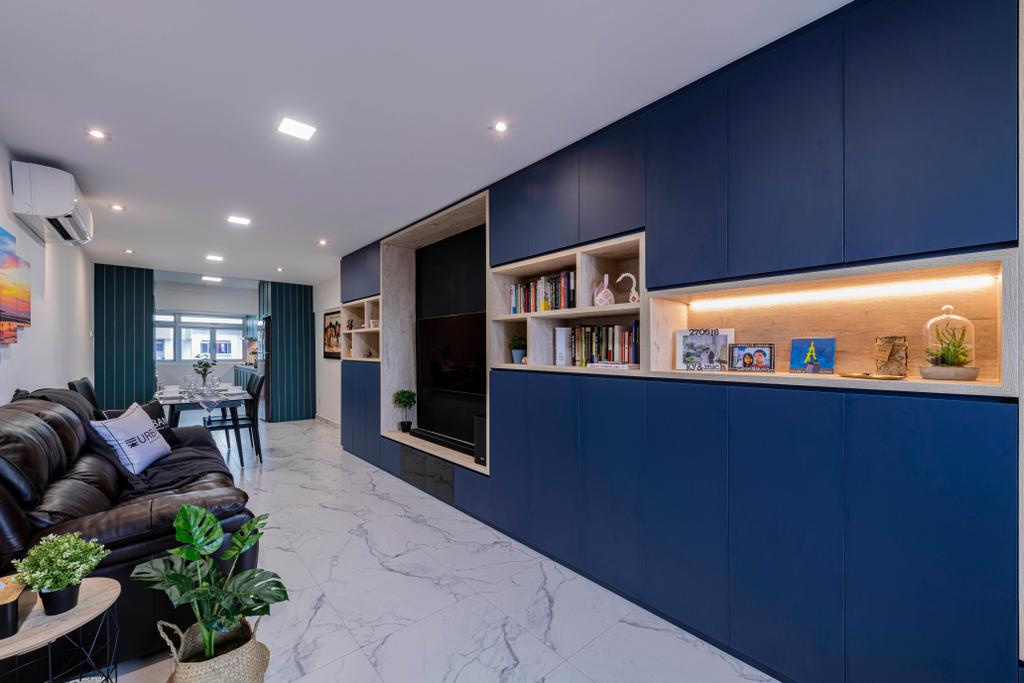 Contemporary, HDB, Living Room, Lorong Liew Lian, Interior Designer, Urban Home Design 二本設計家
