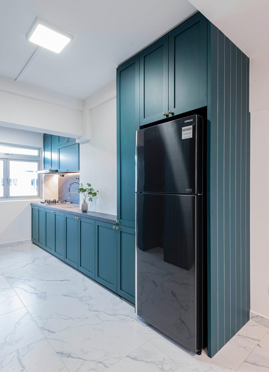 Contemporary, HDB, Kitchen, Lorong Liew Lian, Interior Designer, Urban Home Design 二本設計家