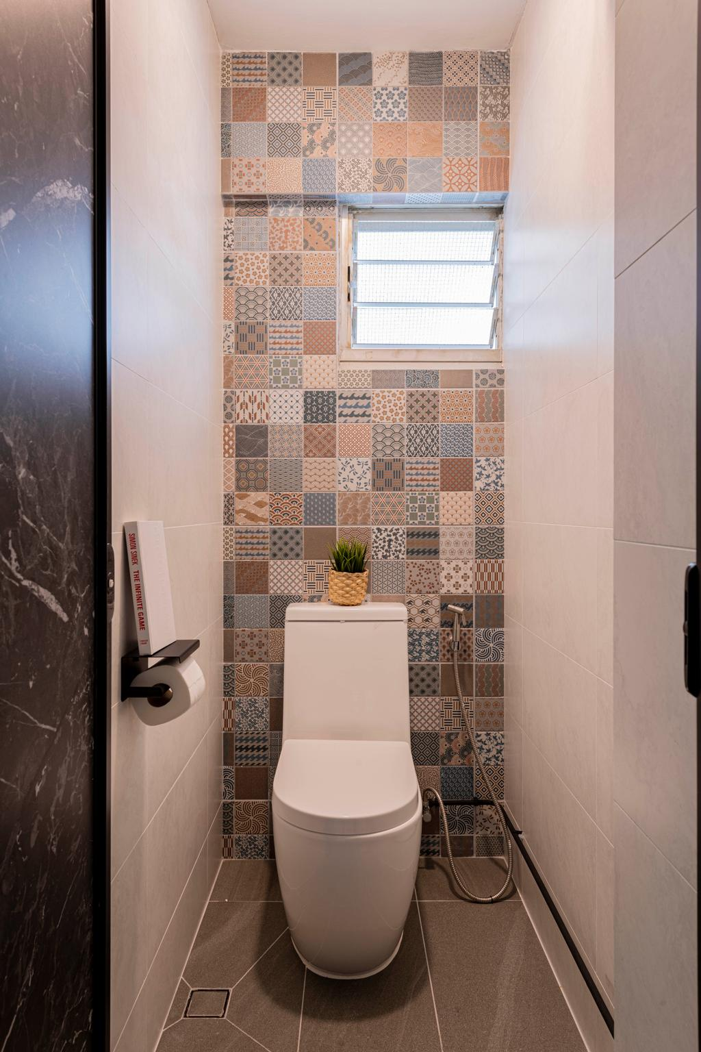 Contemporary, HDB, Bathroom, Lorong Liew Lian, Interior Designer, Urban Home Design 二本設計家