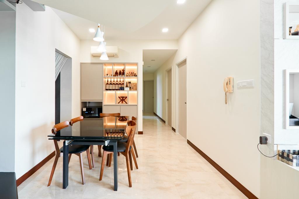 Modern, Condo, Dining Room, Guilin View, Interior Designer, Le Interior Affairs