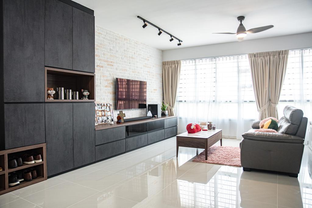 Contemporary, HDB, Living Room, Sumang Lane (Block 233C), Interior Designer, Le Interior Affairs