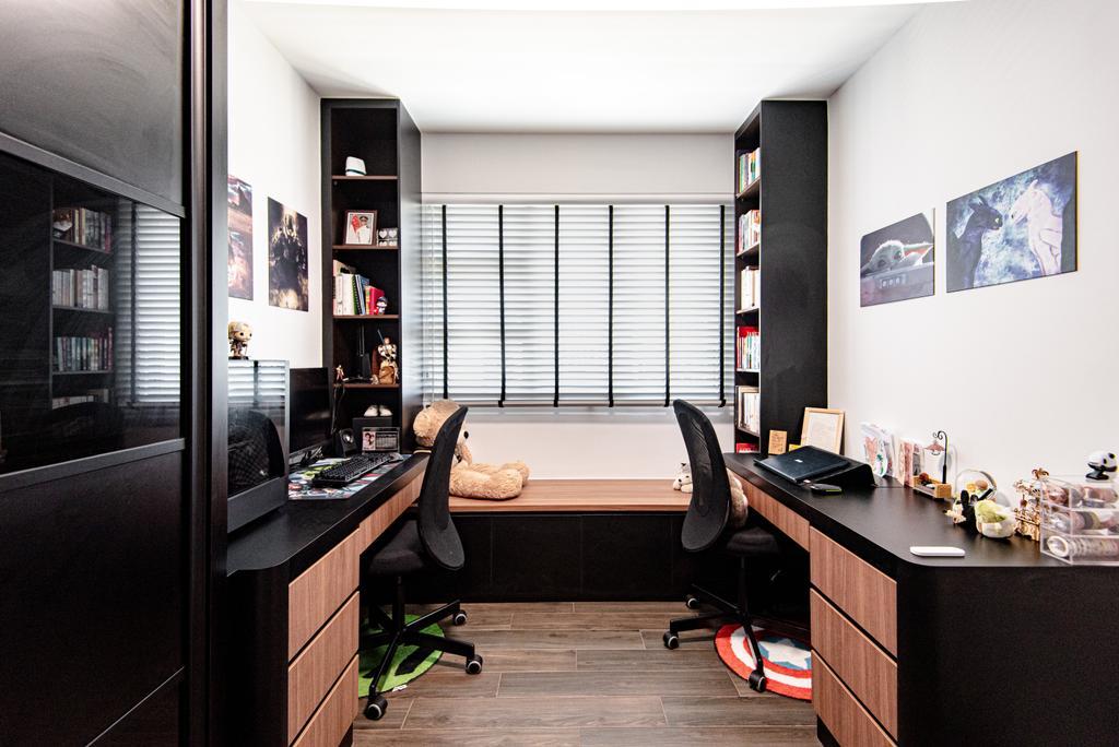 Contemporary, HDB, Study, Sumang Lane (Block 233C), Interior Designer, Le Interior Affairs