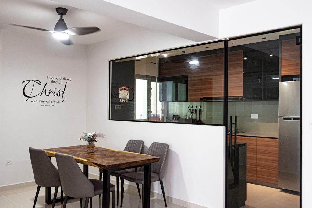 Contemporary, HDB, Dining Room, Sumang Lane (Block 233C), Interior Designer, Le Interior Affairs