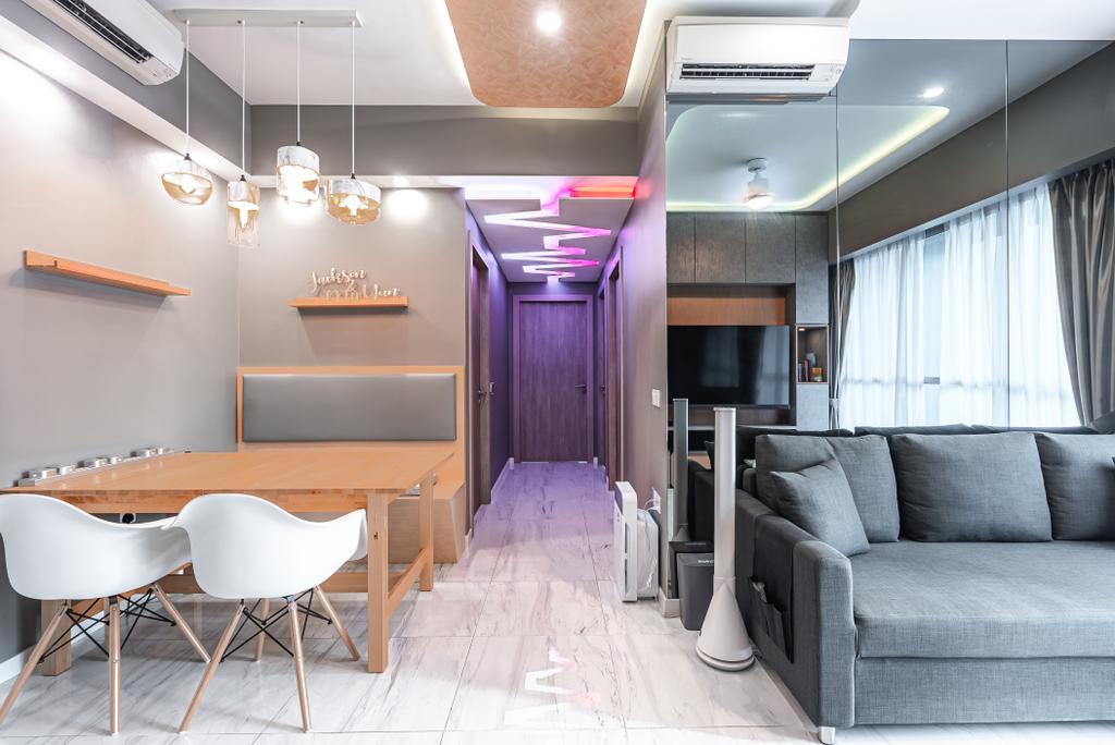 Scandinavian, HDB, Dining Room, Tampines (Block 115), Interior Designer, Le Interior Affairs, Modern