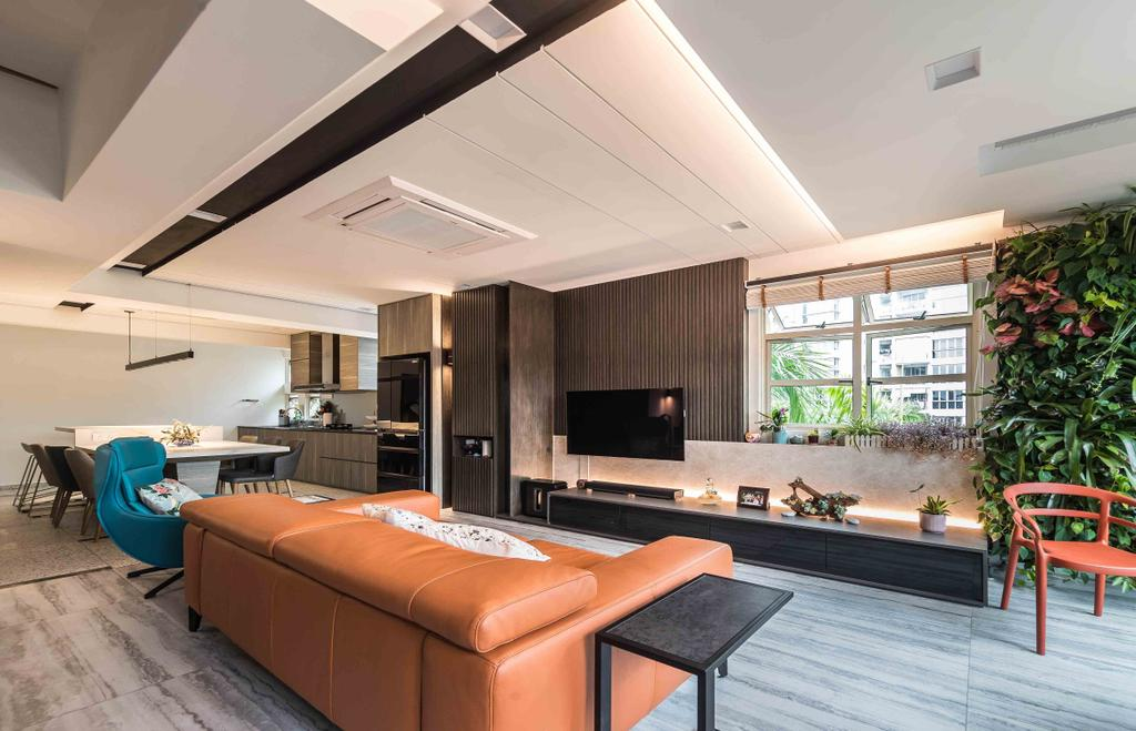 Contemporary, Condo, Living Room, Sandy Palm, Interior Designer, Ciseern