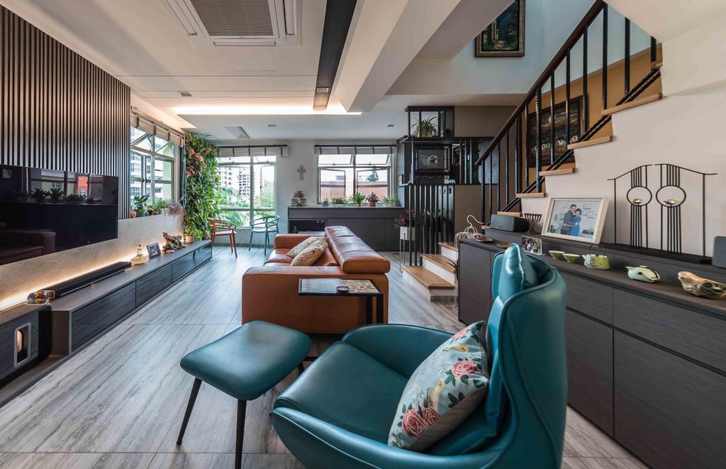 Contemporary, Condo, Living Room, Sandy Palm, Interior Designer, Ciseern, Penthouse