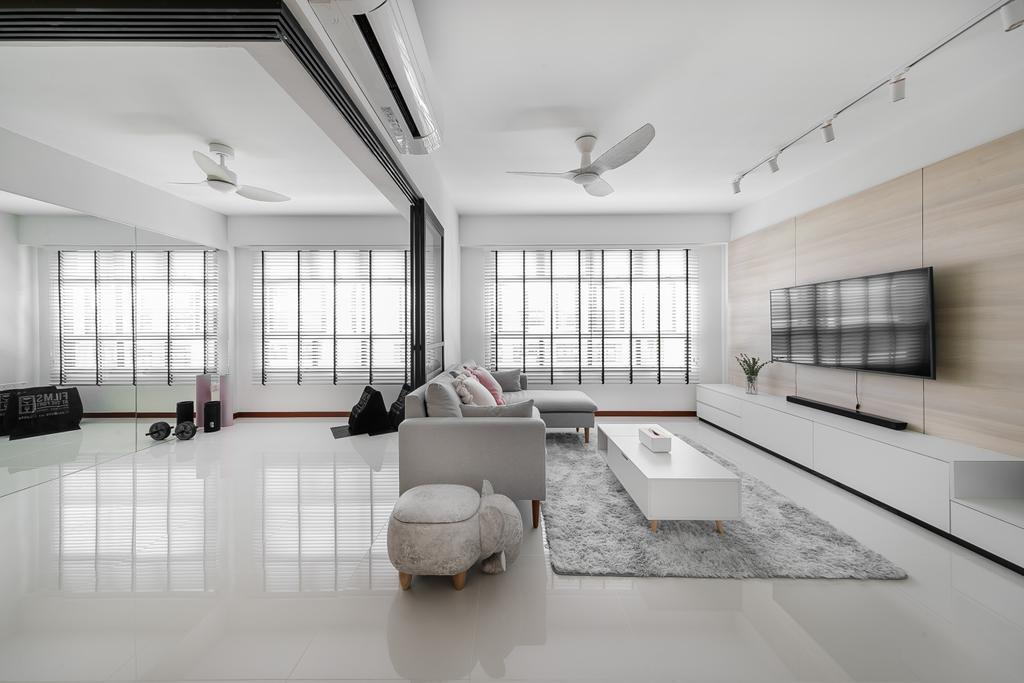 Contemporary, HDB, Living Room, Tampines Avenue 9, Interior Designer, Ciseern, Scandinavian