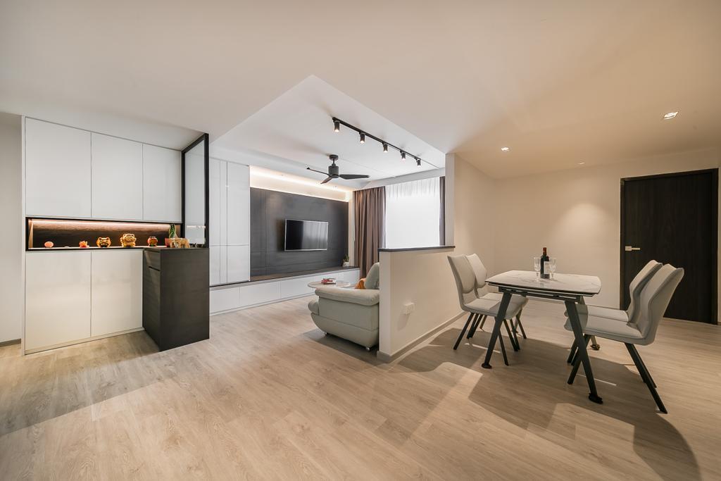 Contemporary, HDB, Living Room, Compassvale Road, Interior Designer, Ciseern, Scandinavian