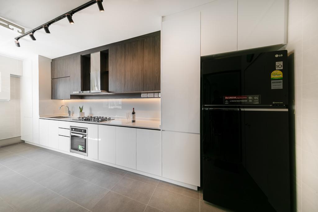 Contemporary, HDB, Kitchen, Compassvale Road, Interior Designer, Ciseern, Scandinavian