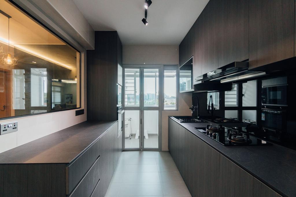 Contemporary, HDB, Kitchen, Canberra (Block 101A), Interior Designer, Le Interior Affairs
