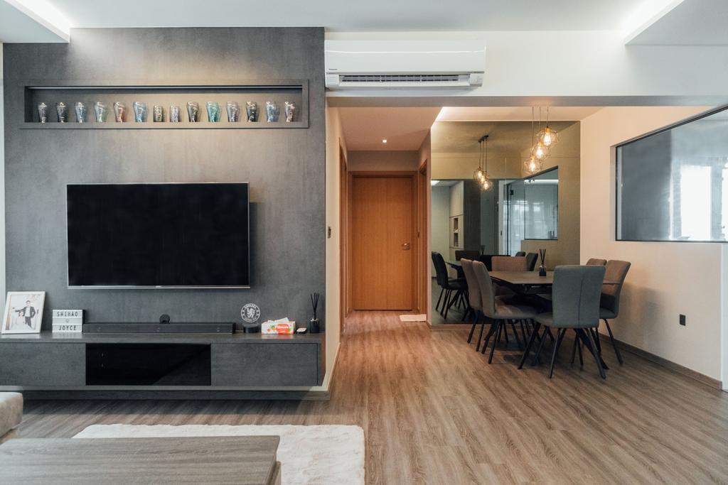 Contemporary, HDB, Living Room, Canberra (Block 101A), Interior Designer, Le Interior Affairs