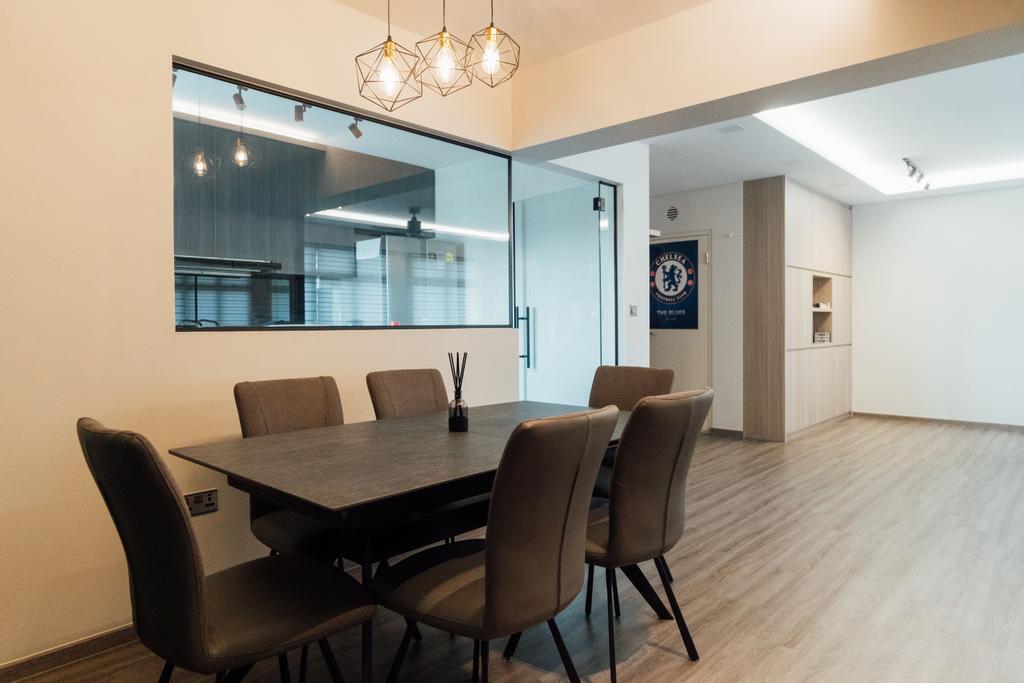 Contemporary, HDB, Dining Room, Canberra (Block 101A), Interior Designer, Le Interior Affairs