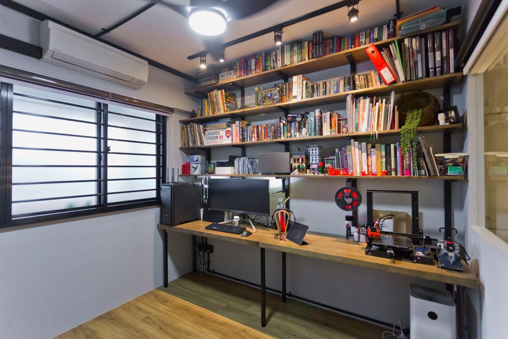 HDB, Study, Tampines Avenue 5, Interior Designer, Design Cube