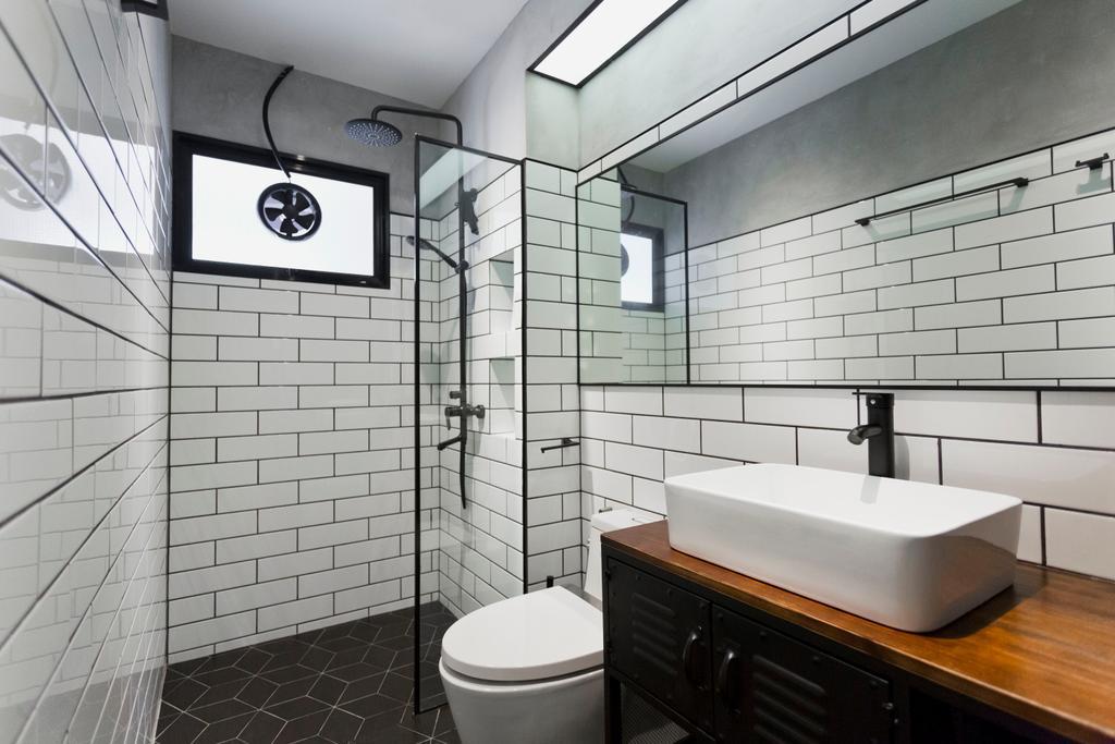 HDB, Bathroom, Tampines Avenue 5, Interior Designer, Design Cube