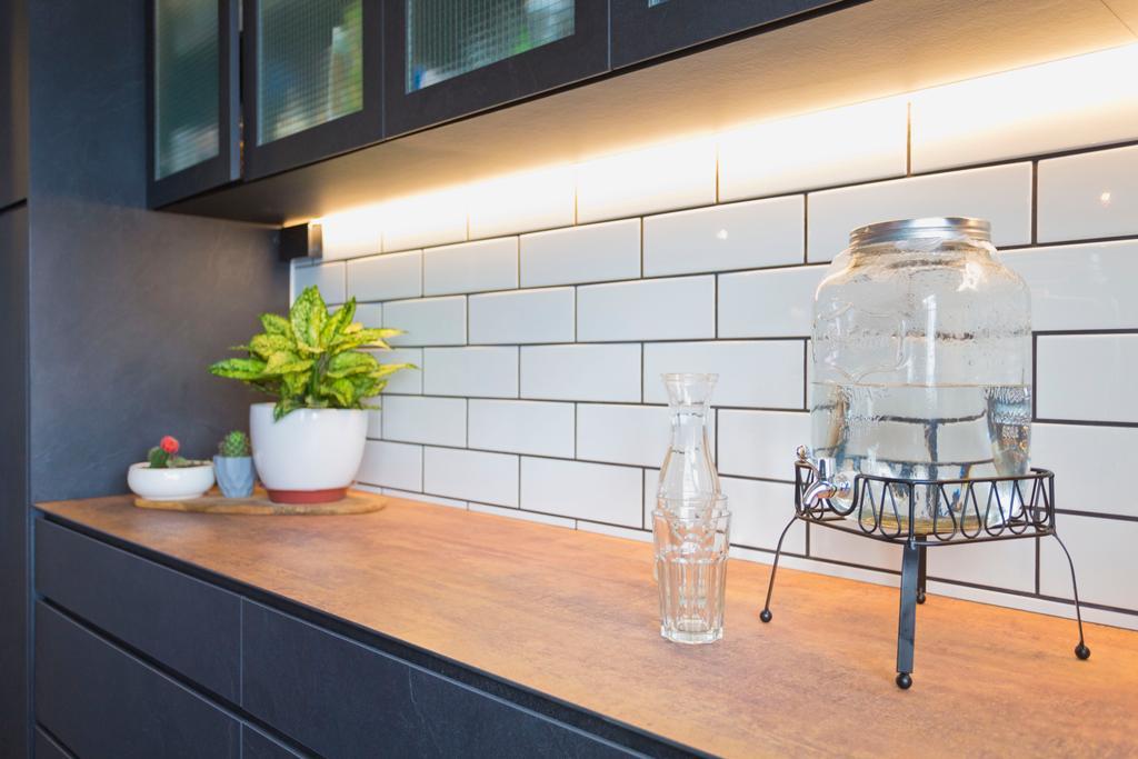 HDB, Kitchen, Tampines Avenue 5, Interior Designer, Design Cube