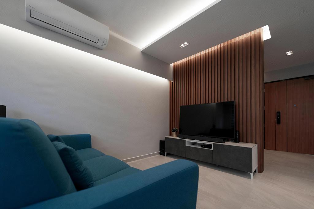 HDB, Living Room, Tampines North, Interior Designer, Design Cube