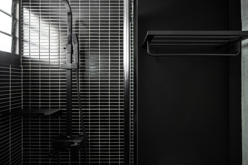 Contemporary, HDB, Bathroom, Tampines Greenweave, Interior Designer, 19 Eighty Three, Black, Monochrome