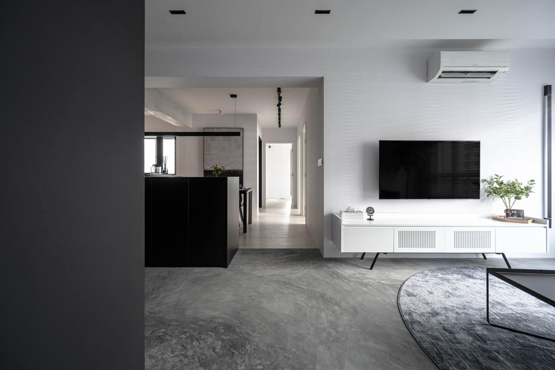 Tampines Greenweave, 19 Eighty Three, Contemporary, Living Room, HDB, Open Layout, Open Concept