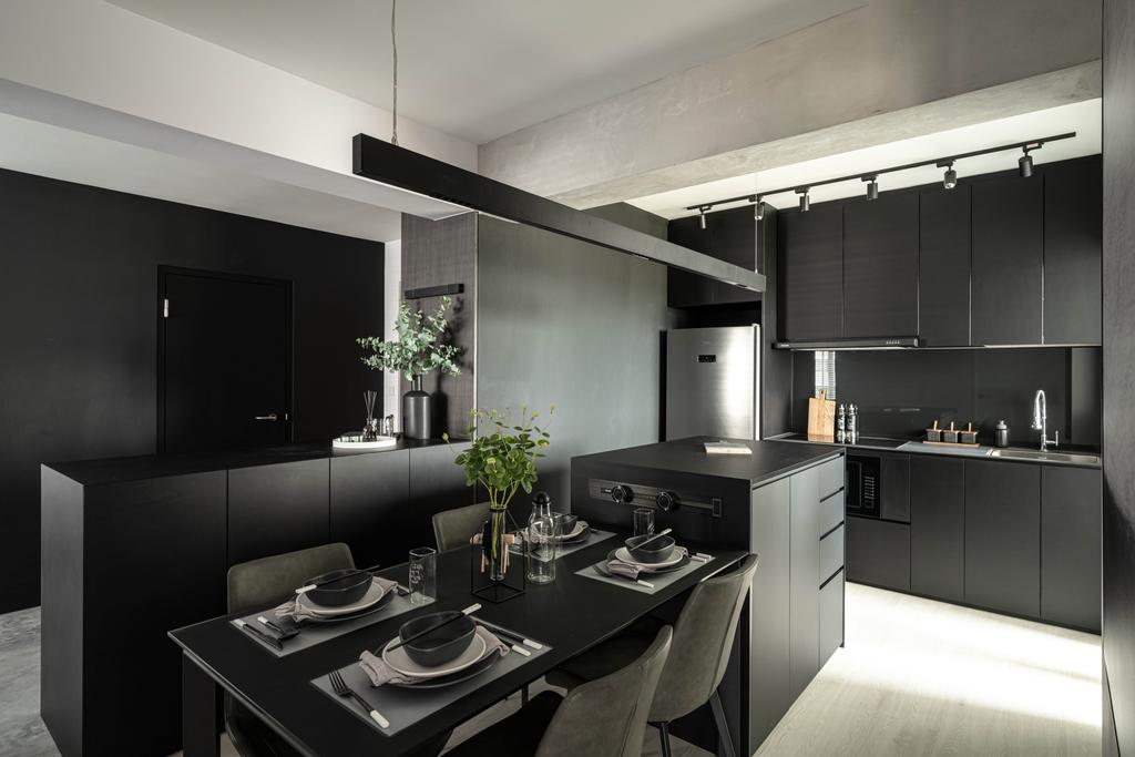 Contemporary, HDB, Kitchen, Tampines Greenweave, Interior Designer, 19 Eighty Three