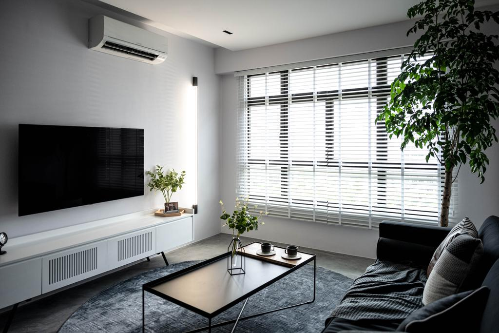 Contemporary, HDB, Living Room, Tampines Greenweave, Interior Designer, 19 Eighty Three