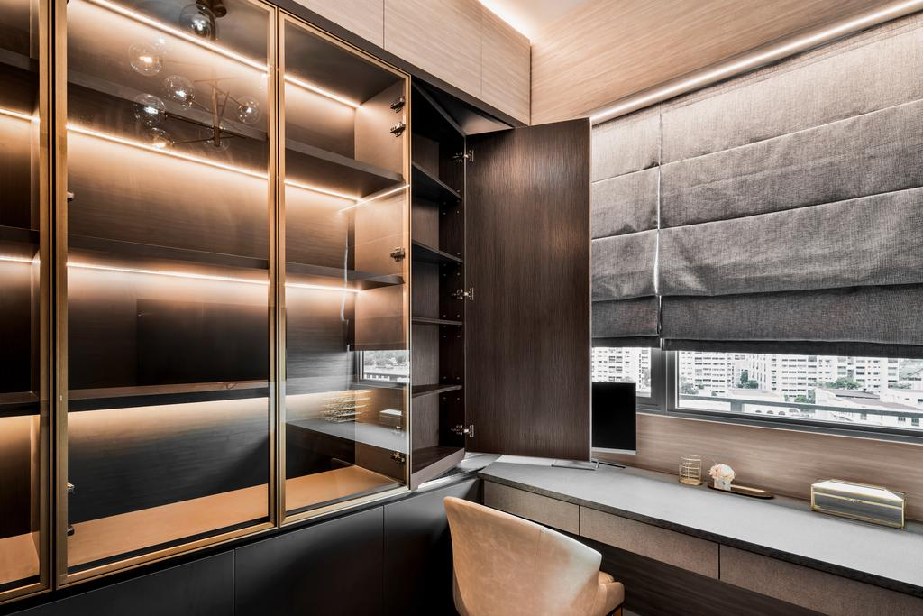 Modern, Condo, Study, Stars of Kovan, Interior Designer, Mr Shopper Studio