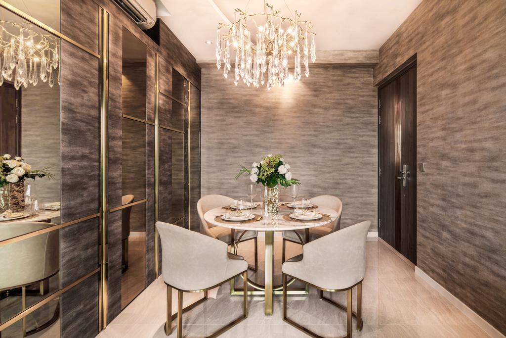 Modern, Condo, Dining Room, Stars of Kovan, Interior Designer, Mr Shopper Studio