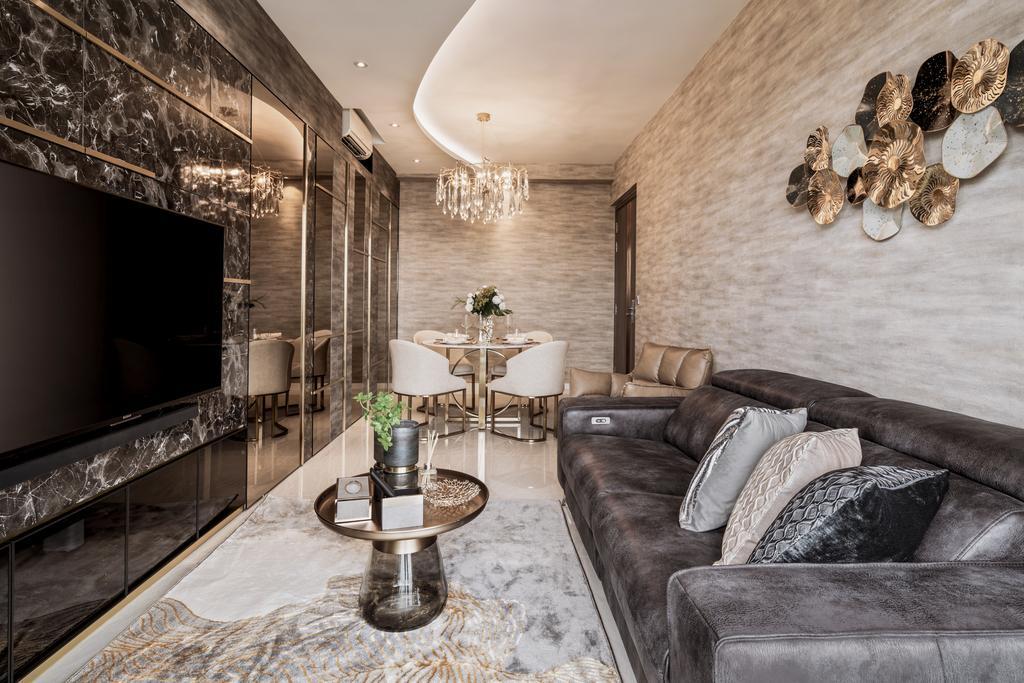 Modern, Condo, Living Room, Stars of Kovan, Interior Designer, Mr Shopper Studio