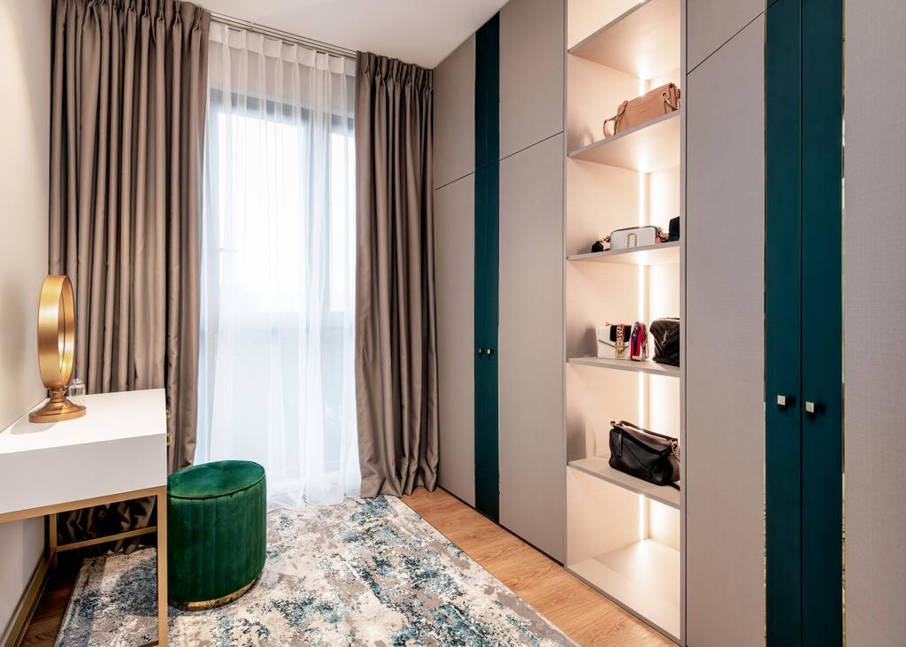 Modern, Condo, Bedroom, Hundred Palms Residences, Interior Designer, Mr Shopper Studio, Wardrobe, Walk In Wardrobe, Vanity, Dressing Room