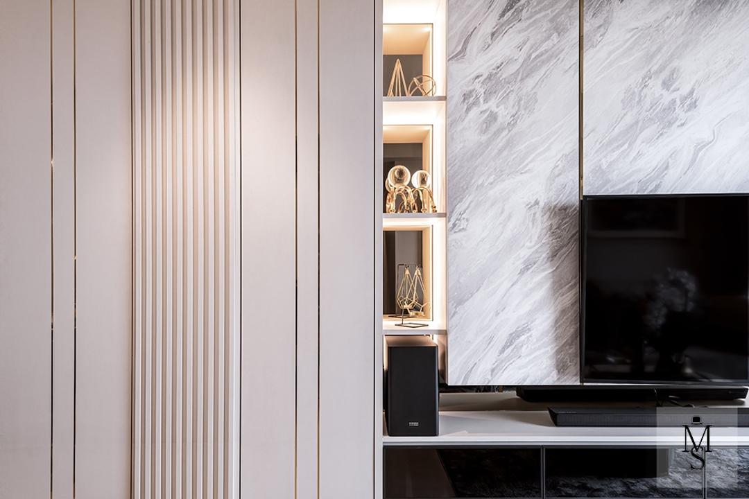 Hundred Palms Residences, Mr Shopper Studio, Modern, Living Room, Condo, Feature Wall