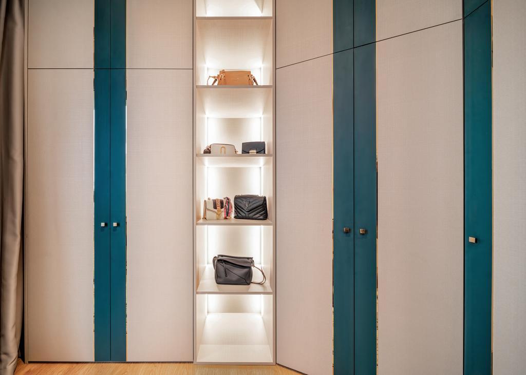 Modern, Condo, Bedroom, Hundred Palms Residences, Interior Designer, Mr Shopper Studio, Bags, Display
