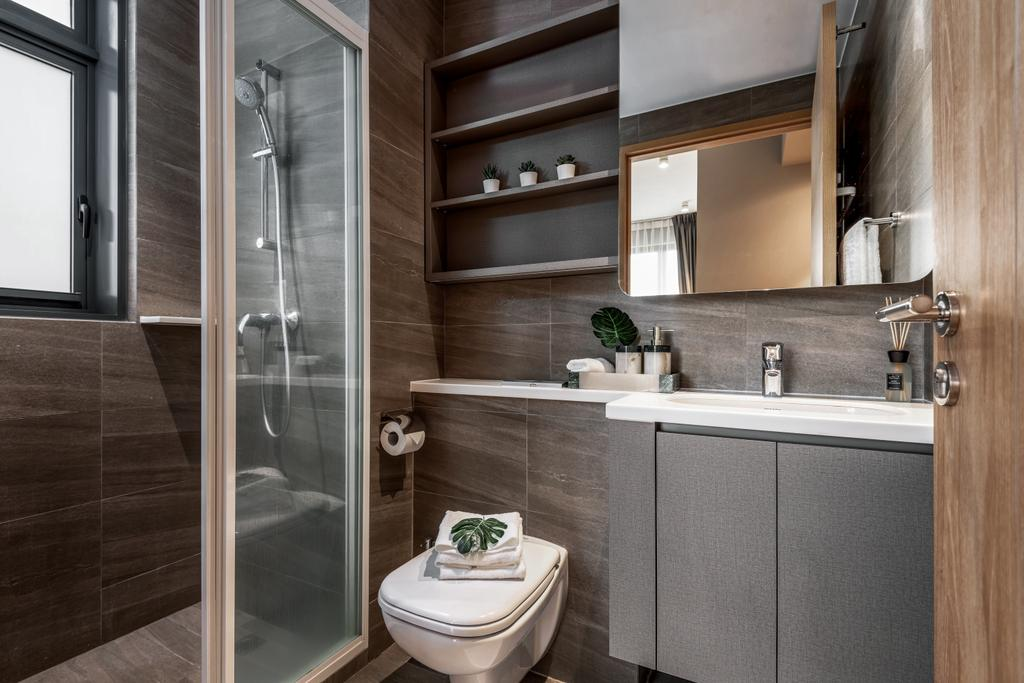 Modern, Condo, Bathroom, Hundred Palms Residences, Interior Designer, Mr Shopper Studio