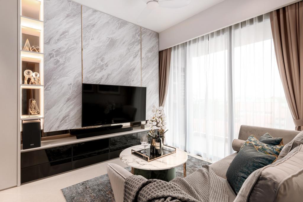 Modern, Condo, Living Room, Hundred Palms Residences, Interior Designer, Mr Shopper Studio