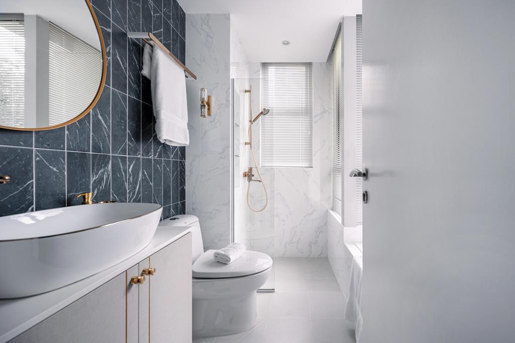 Modern, Condo, Bathroom, Kovan Melody, Interior Designer, Mr Shopper Studio, Contemporary