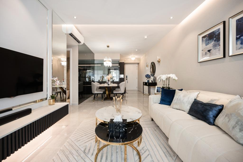 Modern, Condo, Living Room, Kovan Melody, Interior Designer, Mr Shopper Studio, Contemporary